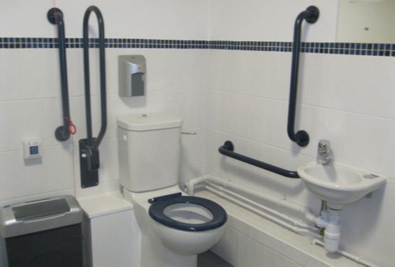Commercial disabled toilet